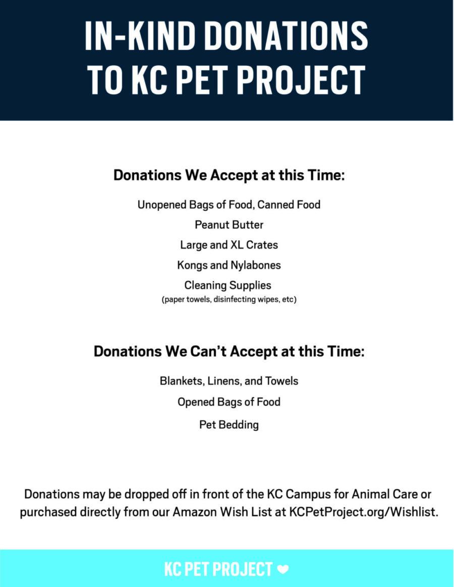 donations kc pet project