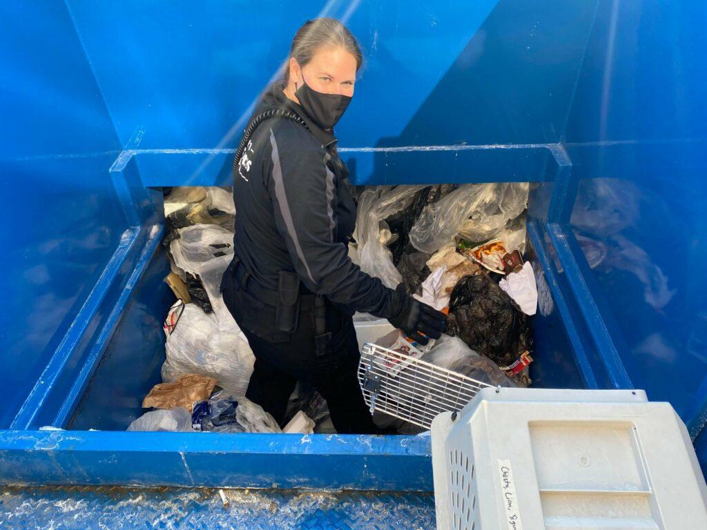 animal services officer dumpster